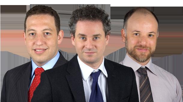 Dan Stulbach, José Godoy e Luiz Gustavo Medina